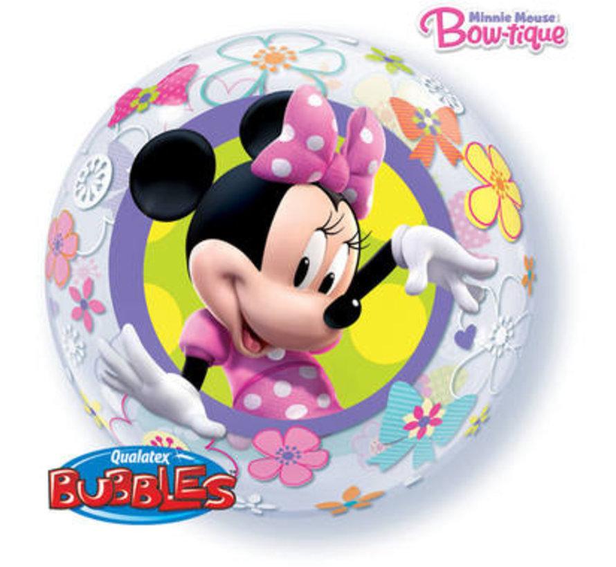 Minnie Mouse Bubbel Ballon 56cm - per stuk