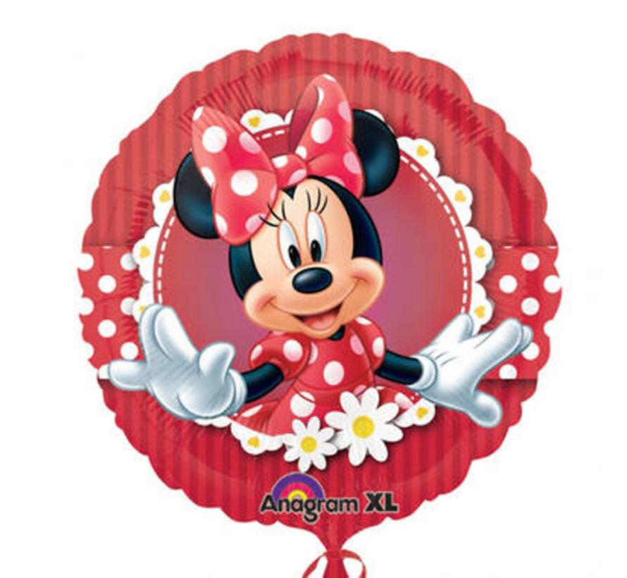 Minnie Mouse Folieballon Rood - per stuk