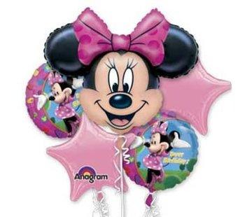 Minnie Mouse Ballonboeket - per stuk