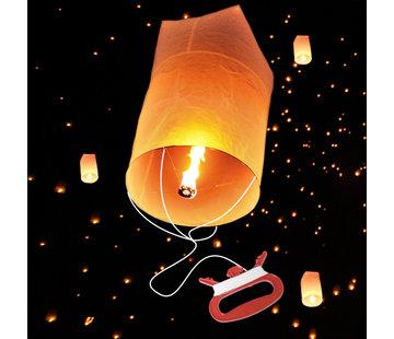 Wensballon met Touw  (30 meter, biologisch afbreekbaar) - per stuk