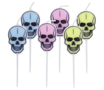 Halloween Kaarsjes Creep Pastel - 6 stuks