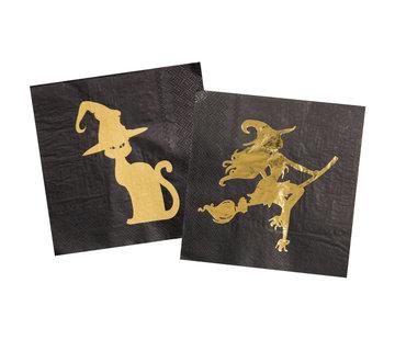 Halloween Servetten Heks - 20 stuks