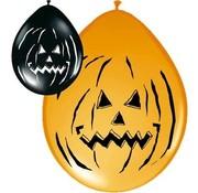 Halloween Ballonnen Pompoenen - 8 stuks