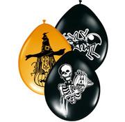 Halloween Ballonnen Assortiment - 8 stuks
