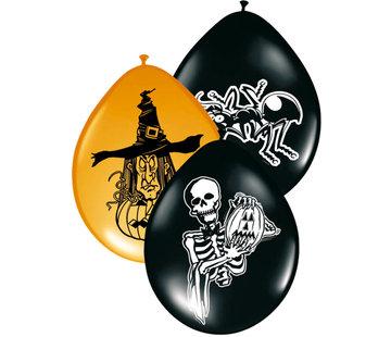 Halloween Ballonnen Assortiment 30 cm - 8 stuks