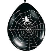 Halloween Ballonnen Spinnenweb - 8 stuks