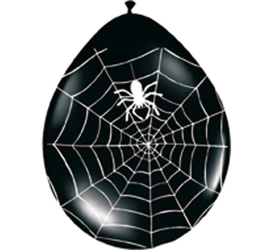 Halloween Ballonnen Spinnenweb 30cm - 8 stuks