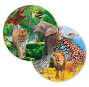 Safari  Bordjes 23cm - 8 stuks