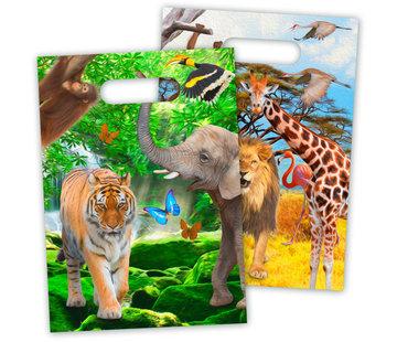 Safari  Uitdeelzakjes - 8 stuks