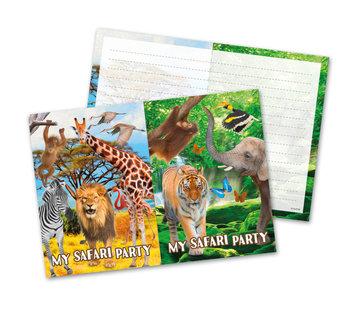 Safari  Uitnodigingen - 8 stuks