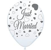 Bruiloft Ballonnen Just Married 30 cm - 8 stuks