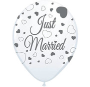 Bruiloft Ballonnen Just Married 30cm - 8 stuks