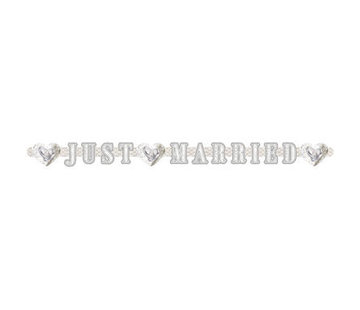 Bruiloft Letterslinger Just Married - per stuk