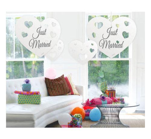 Bruiloft Hangdecoratie hartjes - per stuk