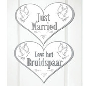 Bruiloft Deurbord Just Married - per stuk