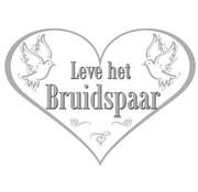 Bruiloft Deurbord Leve het Bruidspaar - per stuk