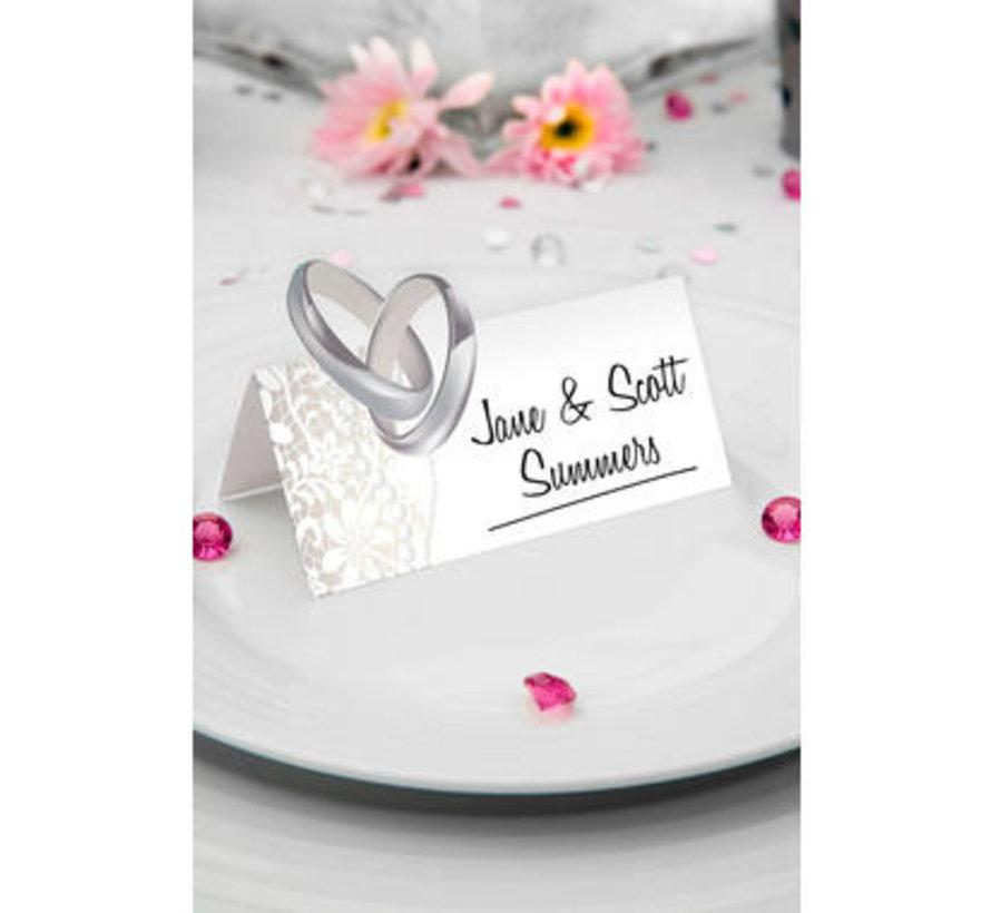 Bruiloft Naamkaartjes Zilver - 36 stuks