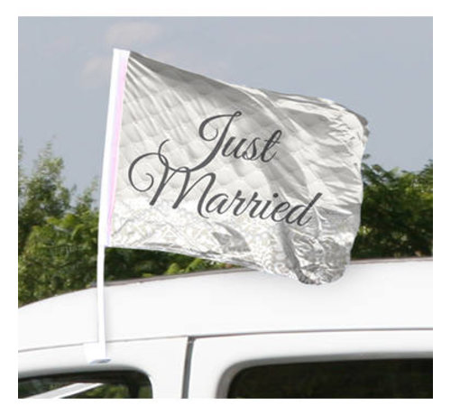 Bruiloft Autovlag Just Married - 2 stuks