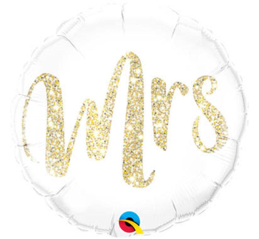 Bruiloft Folieballon Mrs - per stuk