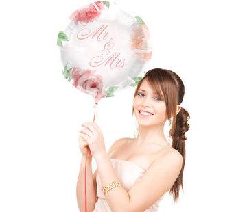 Bruiloft Folieballon Rozen 45cm - per stuk