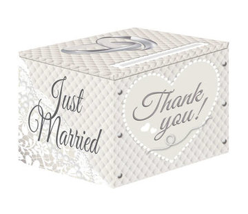 Bruiloft Enveloppendoos Zilver - per stuk