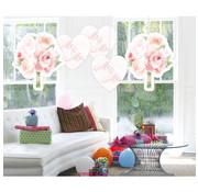 Bruiloft Hangdecoratie Rozen - 5 stuks