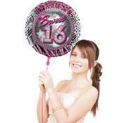 Sweet 16 Folieballon 41cm - per stuk