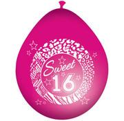 Sweet 16 Roze Ballonnen 30cm - 8 stuks
