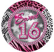 Sweet 16 Bordjes 23 cm - 8 stuks
