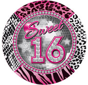 Sweet 16 Bordjes - 8 stuks