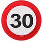 Verkeersbord Borden 30 jaar - 8 stuks