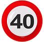 Verkeersbord Borden 40 jaar - 8 stuks
