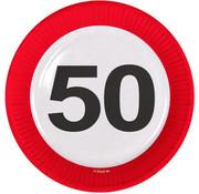 Verkeersbord Borden 50 jaar - 8 stuks