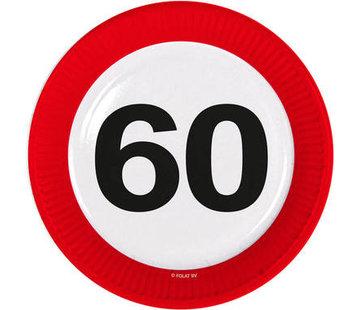 Verkeersbord Borden 60 jaar - 8 stuks