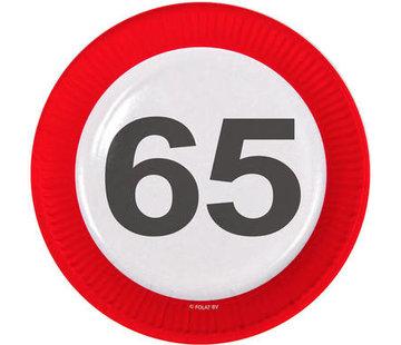 Verkeersbord Borden 65 jaar - 8 stuks