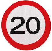 20 Jaar Verkeersbord Servetten - 20 stuks