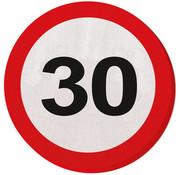 30 Jaar Verkeersbord Servetten - 20 stuks