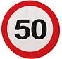 50 Jaar Verkeersbord Servetten - 20 stuks