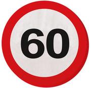 60 Jaar Verkeersbord Servetten - 20 stuks
