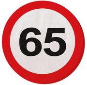 65 Jaar Verkeersbord Servetten - 20 stuks