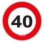 Confetti XL verkeersbord 40