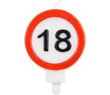 18 Jaar Verkeersbord Kaars