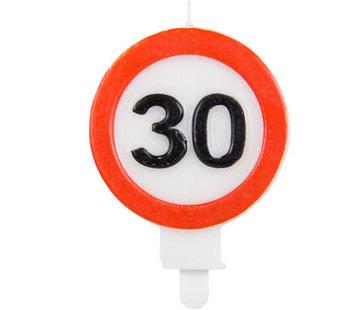 30 Jaar Verkeersbord Kaars