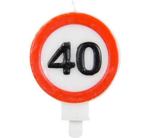40 Jaar Verkeersbord Kaars