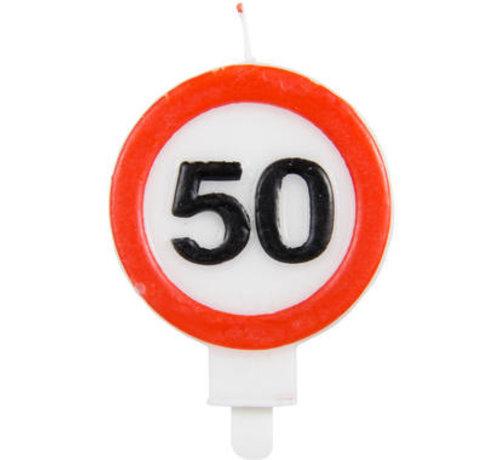 50 Jaar Verkeersbord Kaars - Per Stuk