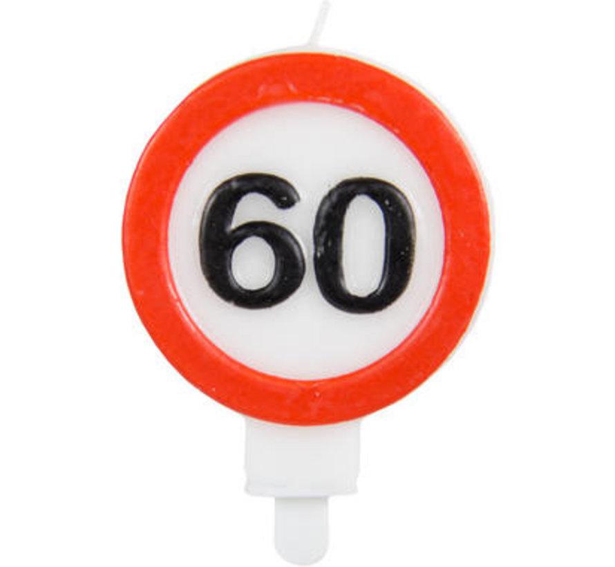 60 Jaar Verkeersbord Kaars