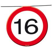 16 Jaar Verkeersbord Slinger -12 meter