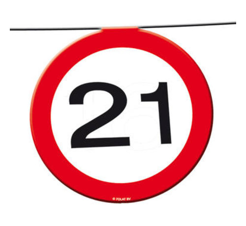 21 Jaar Verkeersbord Slinger -12 meter