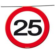 25 Jaar Verkeersbord Slinger -12 meter