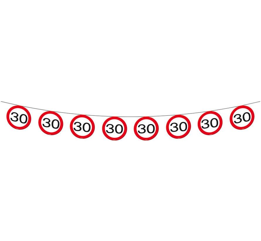 30 Jaar Verkeersbord Slinger -12 meter